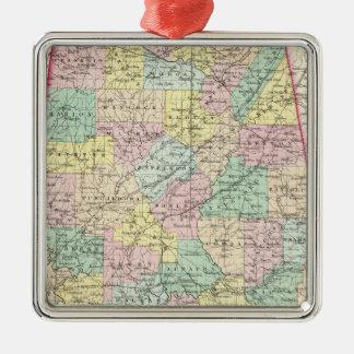Alabama 5 Silver-Colored square ornament