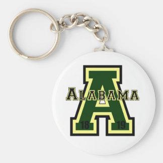 Alabama 'A' Green Keychain