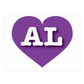 Alabama AL purple heart Postcards