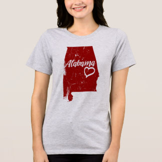 Alabama AL State Love Distressed Vintage t-shirt