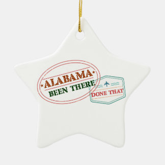 Alabama Been There Done That Ceramic Star Ornament