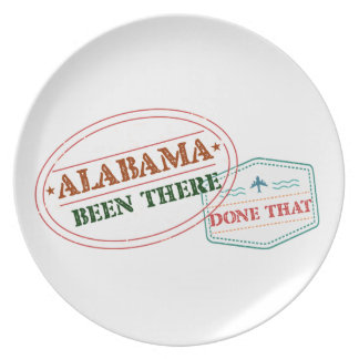 Alabama Been There Done That Plate