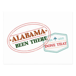 Alabama Been There Done That Postcard