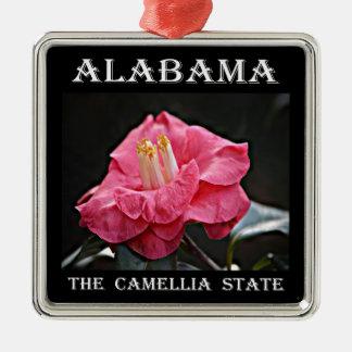 Alabama Camellia Metal Ornament