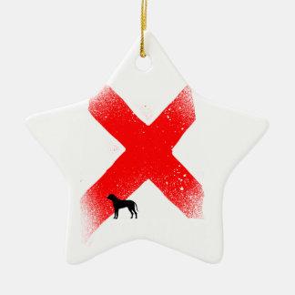 Alabama Ceramic Star Ornament