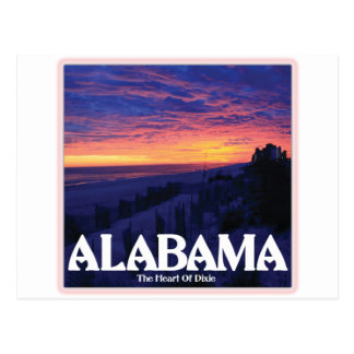 Alabama Dark Sunset Postcard