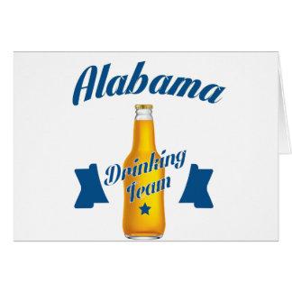 Alabama Drinking team Card