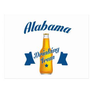 Alabama Drinking team Postcard