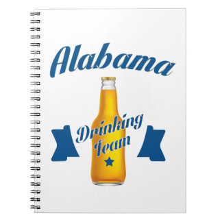 Alabama Drinking team Spiral Notebook