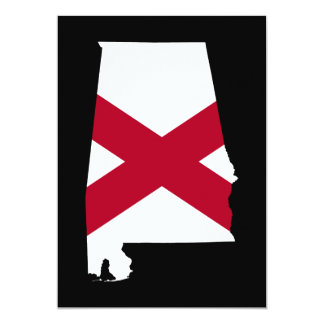 Alabama Flag Colors Card