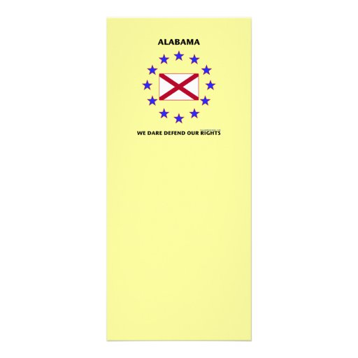 Alabama Flag Defend Our Rights Rack Card