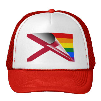 Alabama Flag Gay Pride Rainbow Trucker Hat