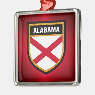 Alabama Flag Metal Ornament