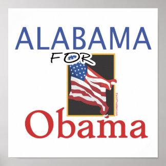 Alabama for Obama Election Print
