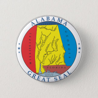 Alabama great seal 2 inch round button
