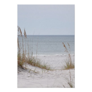 Alabama Gulf Coast seashore Poster