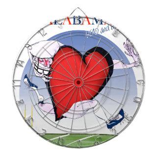 alabama head heart, tony fernandes dartboard