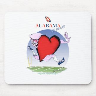 alabama head heart, tony fernandes mouse pad