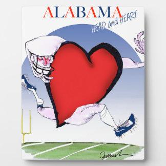 alabama head heart, tony fernandes plaque