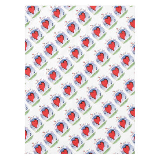 alabama head heart, tony fernandes tablecloth