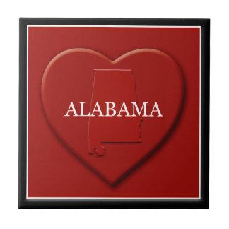 Alabama Heart Map Tile