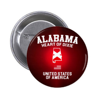 Alabama Heart of Dixie 2 Inch Round Button