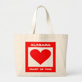 Alabama Heart of Dixie Large Tote Bag
