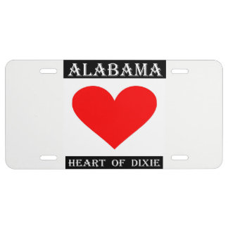 Alabama Heart of Dixie License Plate