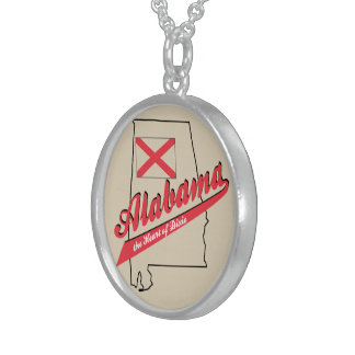 Alabama Heart of Dixie Sterling Silver Necklace