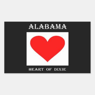 Alabama Heart of Dixie Sticker