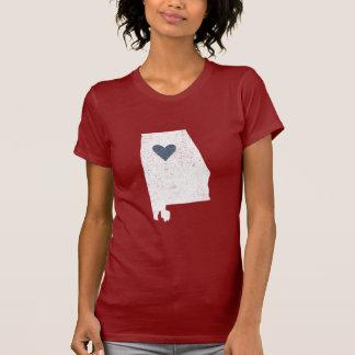 Alabama Heart shirt (white) - Customizable!