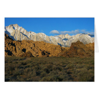 Alabama Hills - Sierra Nevada Greeting Card