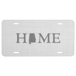 Alabama Home Word State Silhouette License Plate