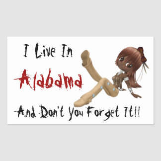 Alabama Humorous Sticker