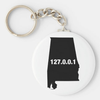 Alabama Is Home Programmer Basic Round Button Keychain