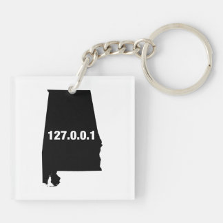 Alabama Is Home Programmer Double-Sided Square Acrylic Keychain