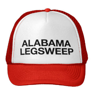 ALABAMA LEGSWEEP fun slogan trucker hat