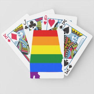 Alabama LGBT Flag Bicycle Playing Cards