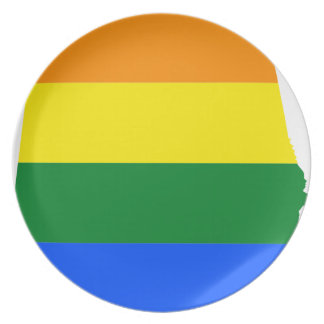 Alabama LGBT Flag Plate