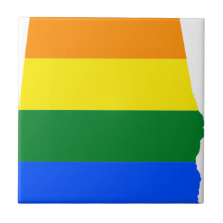 Alabama LGBT Flag Tile
