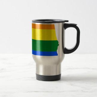 Alabama LGBT Flag Travel Mug