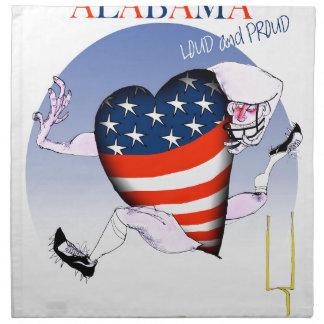 alabama loud and proud, tony fernandes napkin