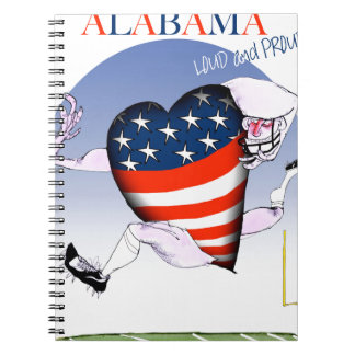 alabama loud and proud, tony fernandes spiral notebook