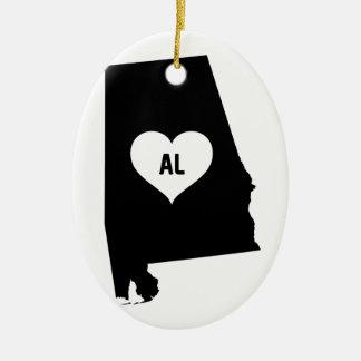 Alabama Love Ceramic Ornament