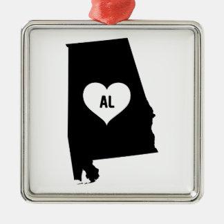 Alabama Love Metal Ornament