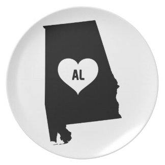 Alabama Love Plate