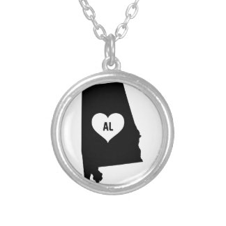 Alabama Love Silver Plated Necklace