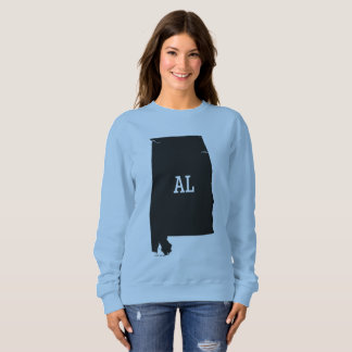 Alabama Map AL Abbreviation Women's Sweatshirts