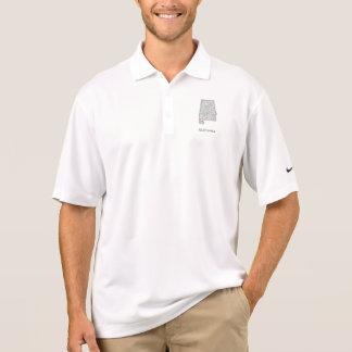 Alabama map polo shirt
