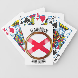 Alabama Proud Flag Button Poker Deck